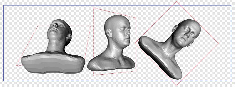 Screengrab of transformed models