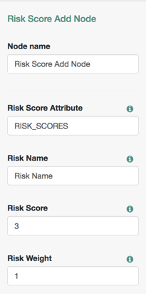 Risk Score Add Node Configuration