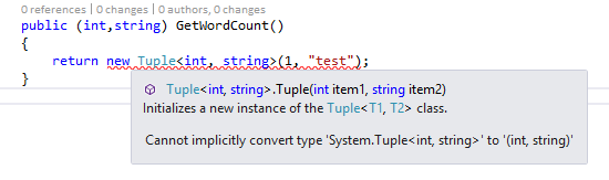 C 7 Additions Tuples Structured Sight
