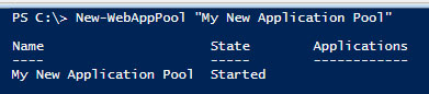 Ne App Pool PowerShell