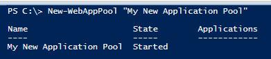 Ne App Pool PowerShell