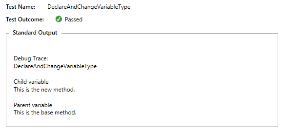 declare variable and change type