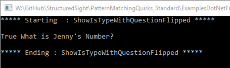 output of is operator and + flipped with parenthesis (shows both question and value)