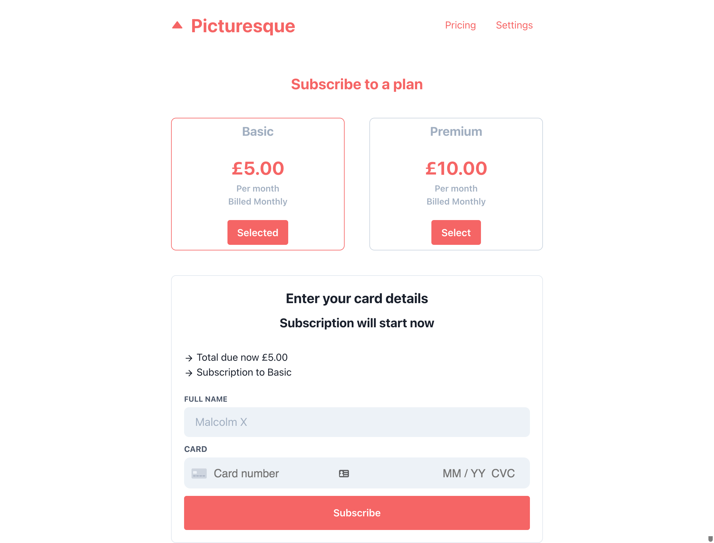 stripe payment and subscriptions