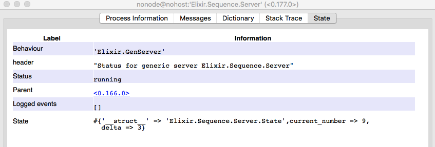 Elixir Sequence Server State