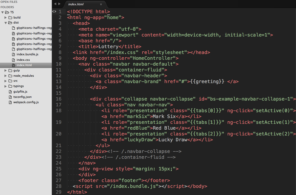 Final HTML result