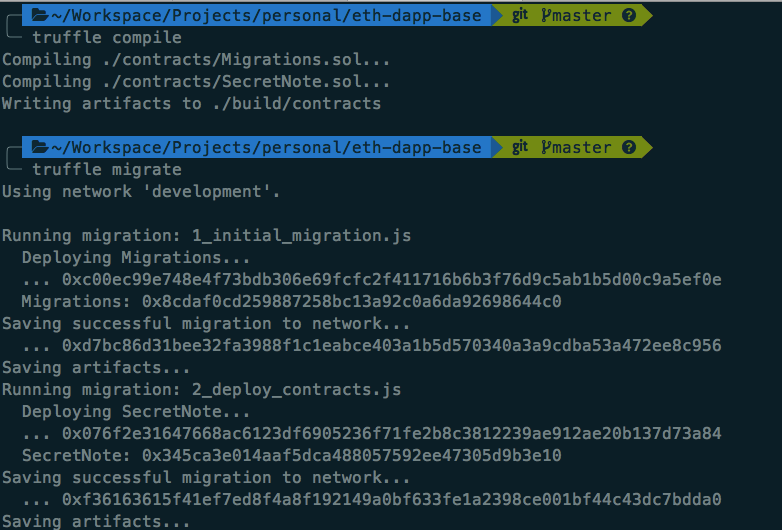 Truffle Compile Migrate