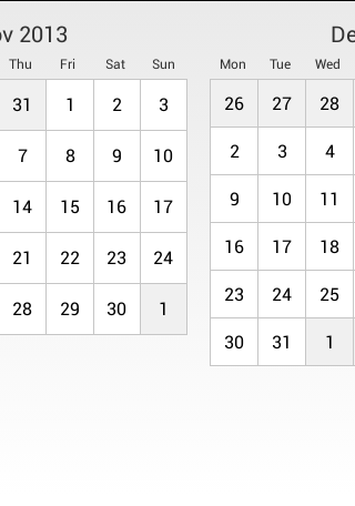 CalendarCardPager screenshot2