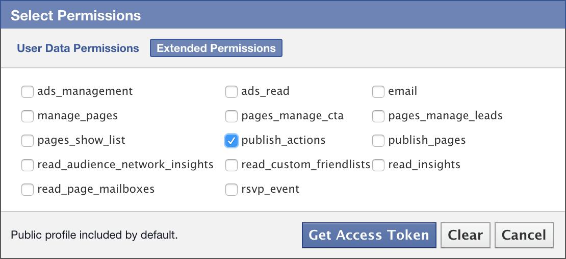 publish_actions permission