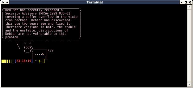 xfce4-terminal & visible part of .bashrc