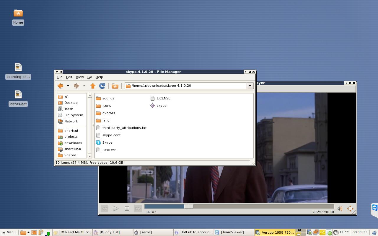 Windows-like Xfce desktop
