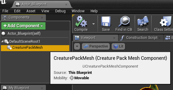 Creatureue4readme at master kestrelmcreatureue4 github now let us assign the animation asset to our new component click on animation asset in the right hand side panel and select your animation asset created malvernweather Choice Image