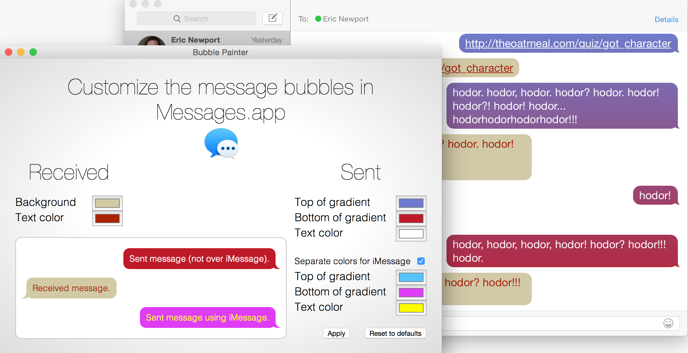GitHub - kethinov/BubblePainter: 🎨 Customize the chat bubbles in