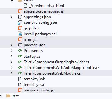 files we need to modify/add