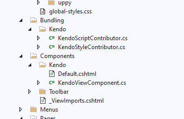 Adding in components/bundles for abp