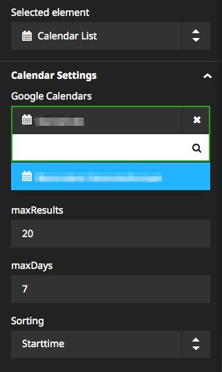 Calendar List NodeType