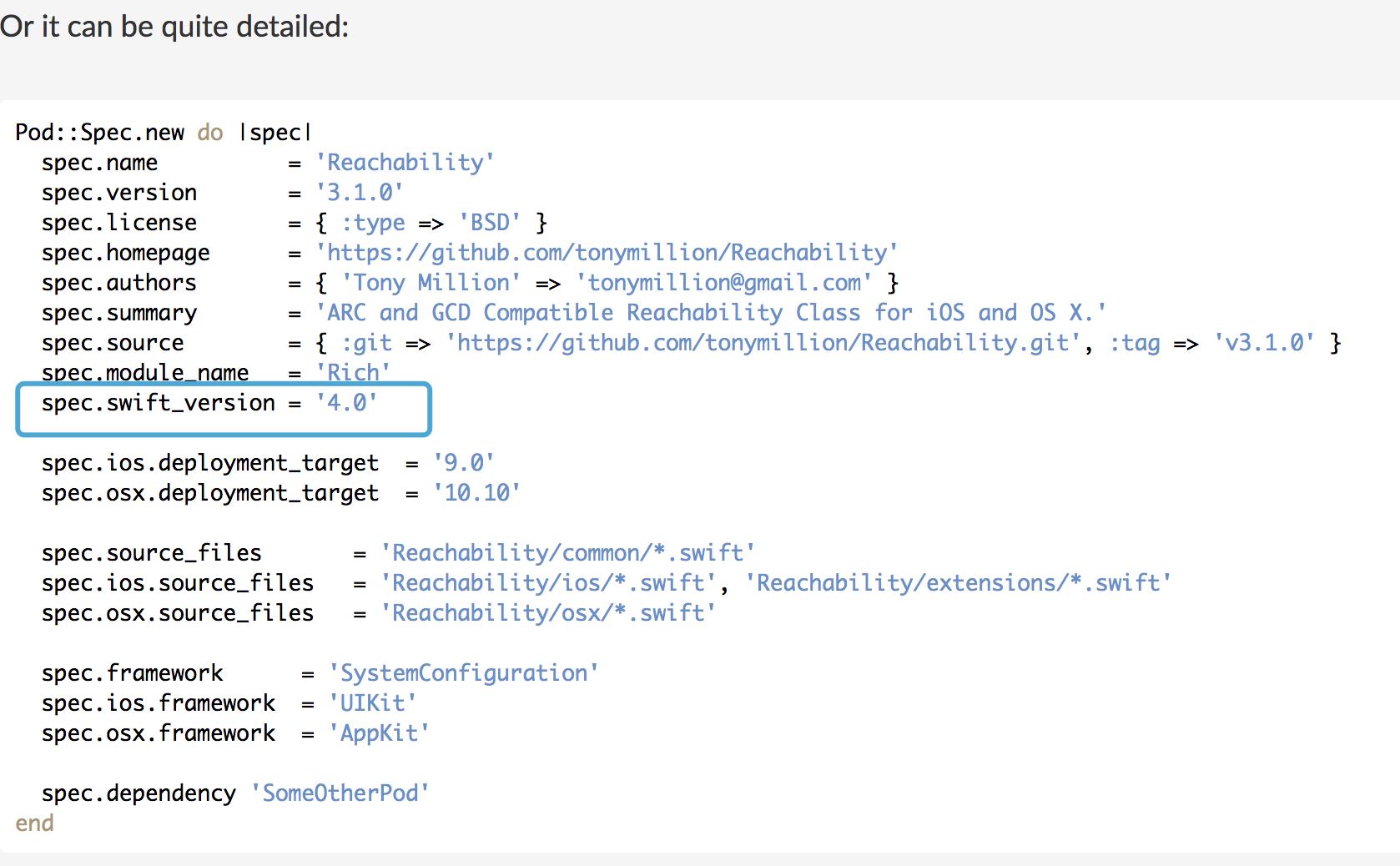 Swift Reachability Github | Swiftexample