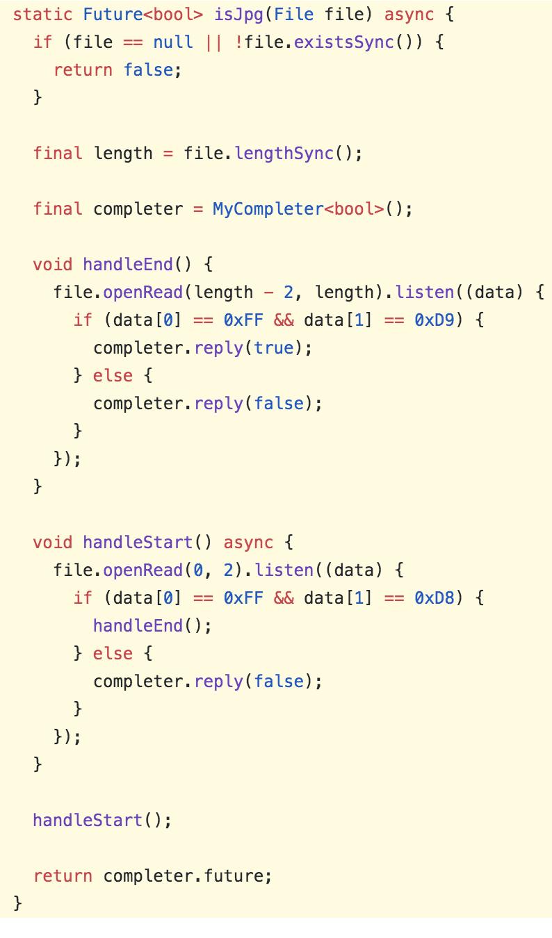 com/caijinglong/dart_image_size_getter 比如判断一个文件是不是