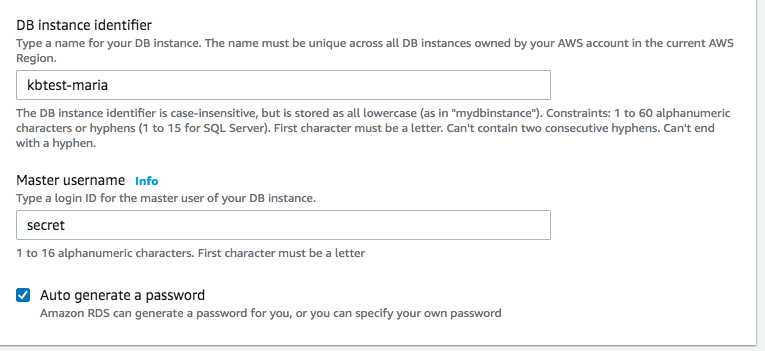 multitier names and password