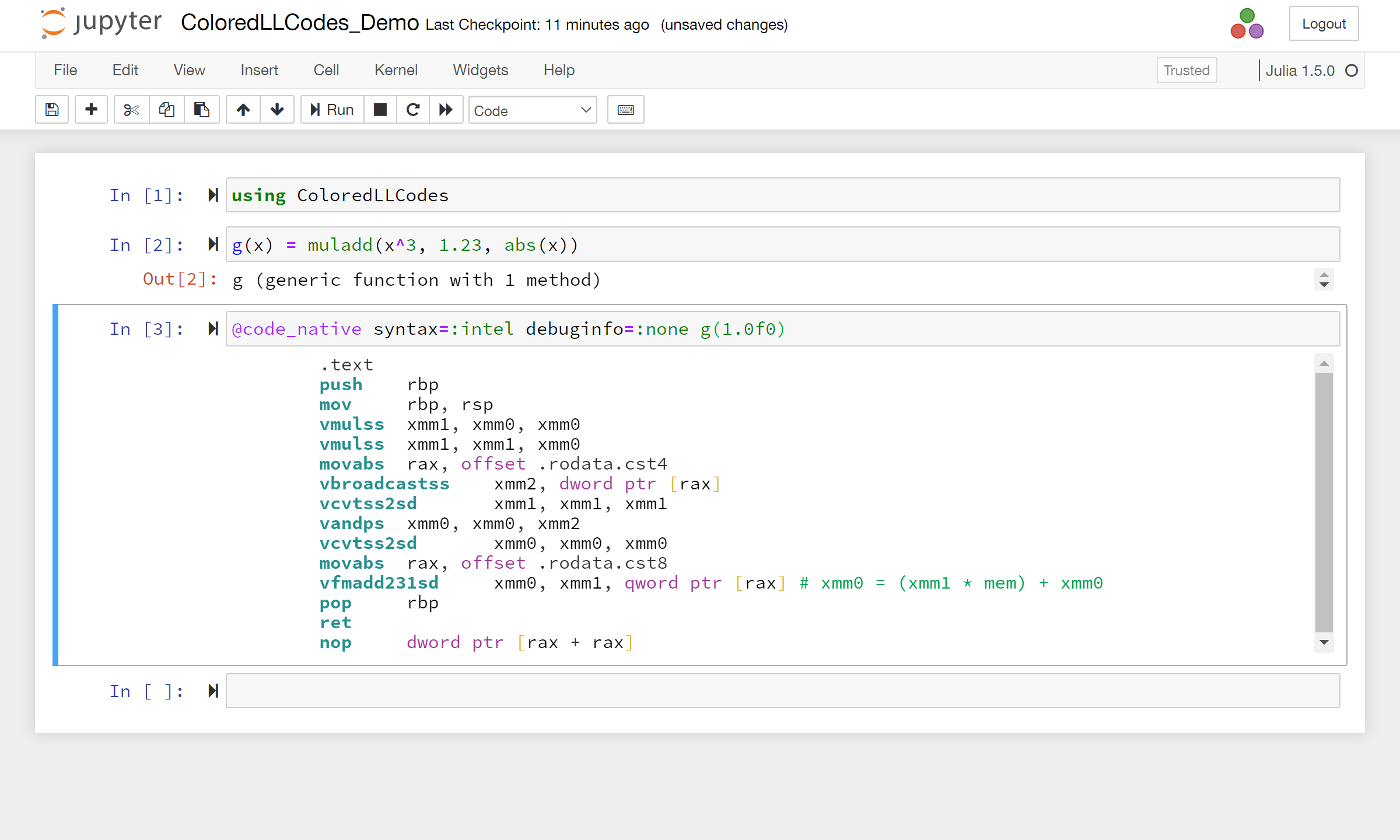 code_native in Jupyter