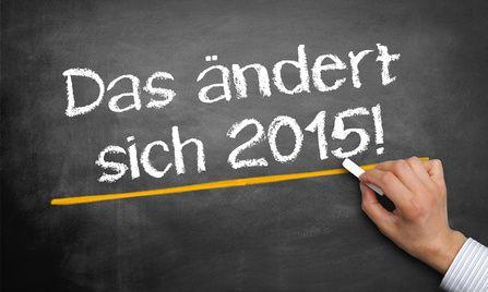 Was ist neu im Jahr 2015 - das ändert sich für Familien