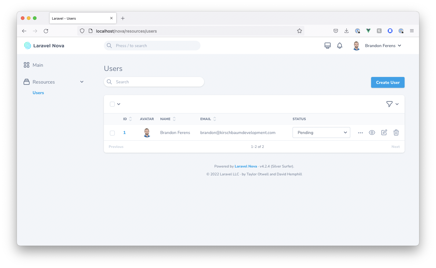 screenshot of the inline select field