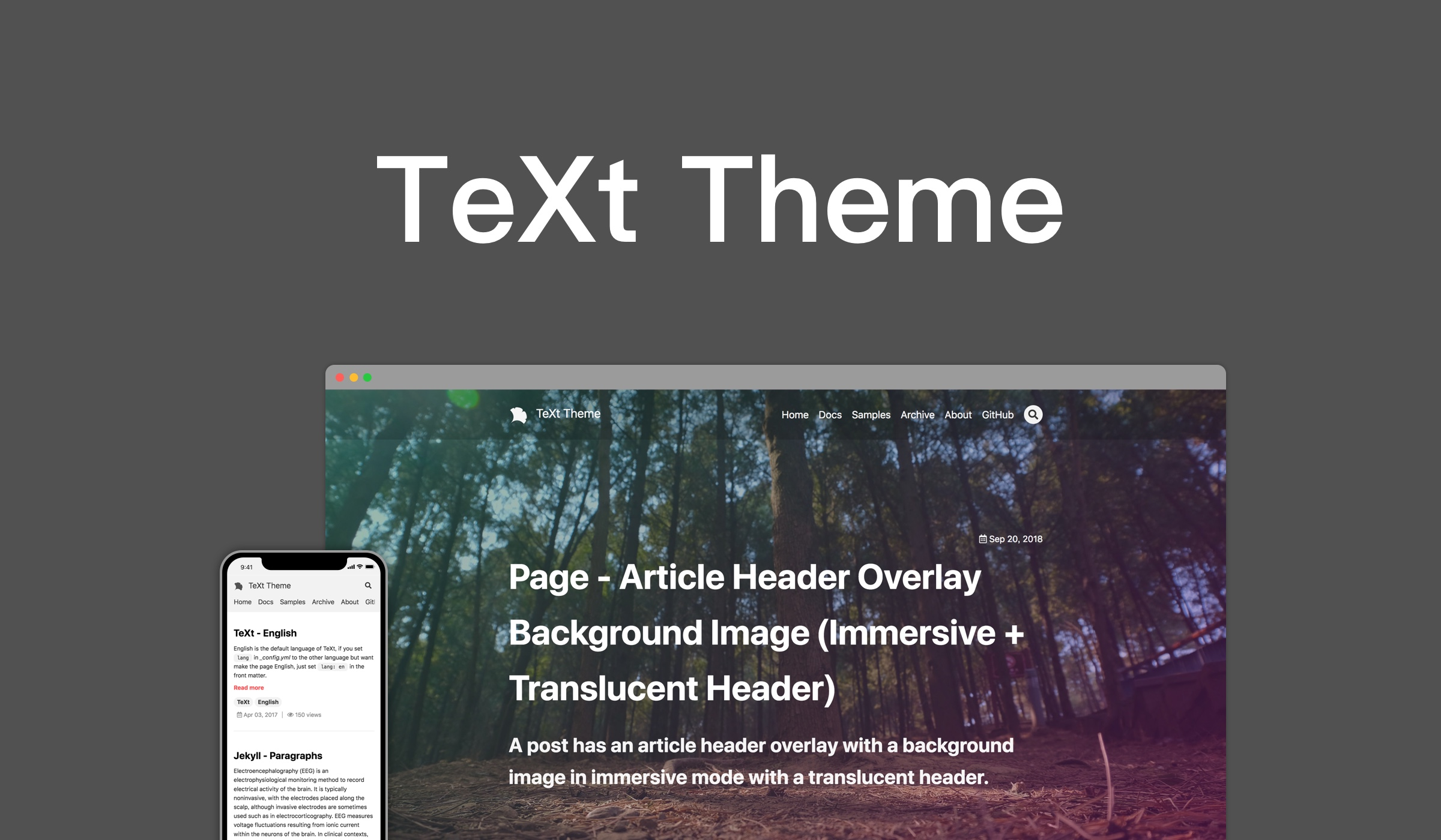 TeXt theme for Jekyll