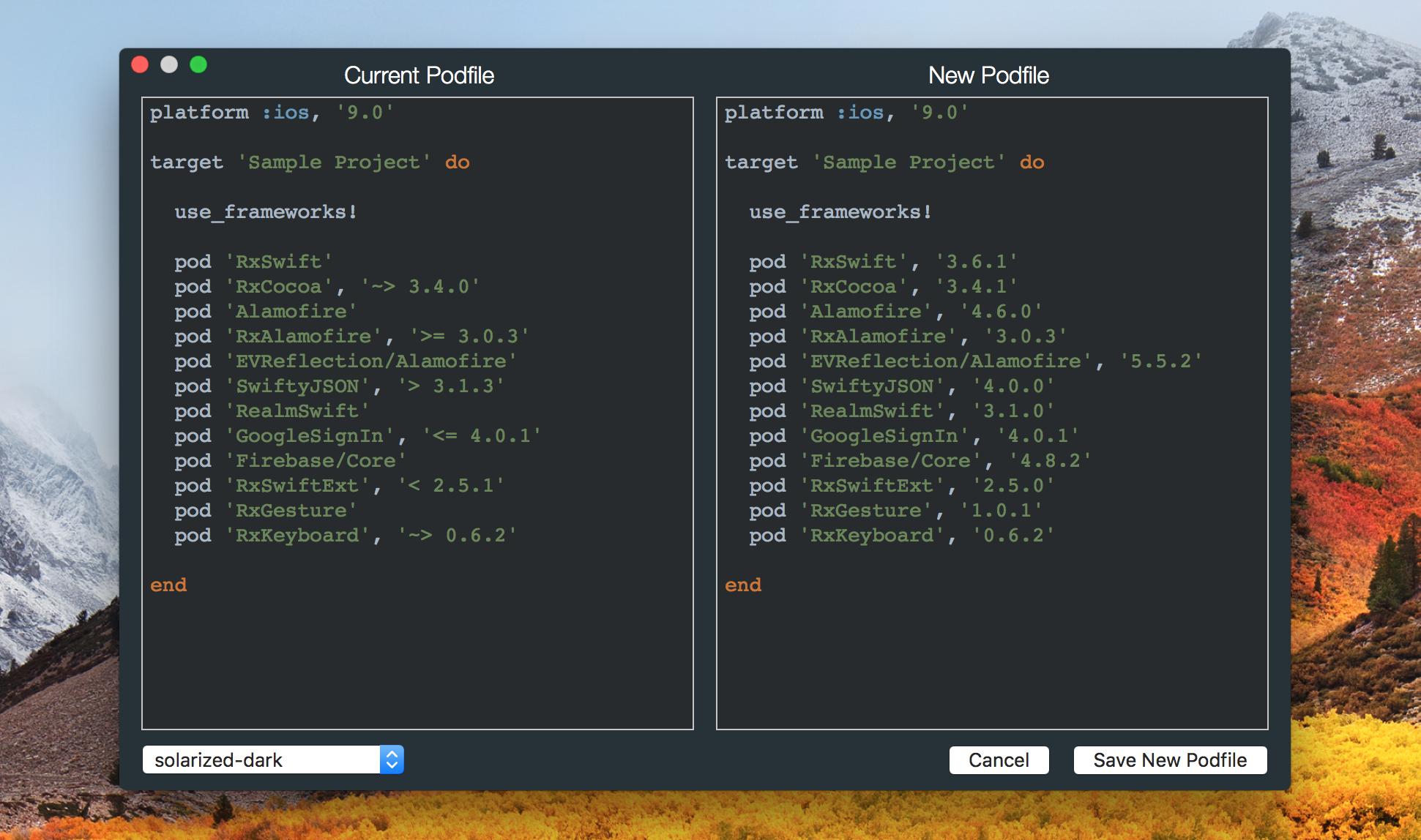 ScreenShot: Make Podfile Compatible