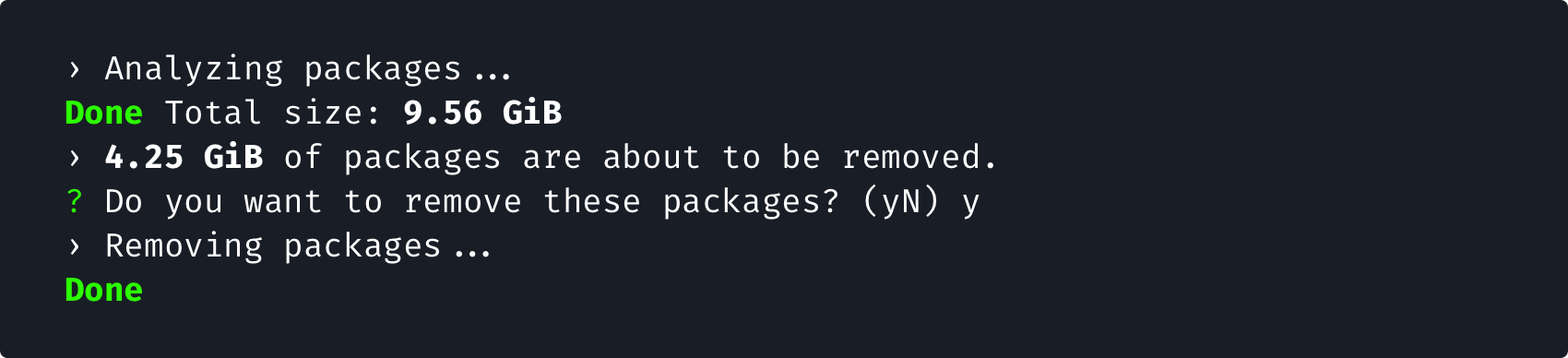 npm delete package