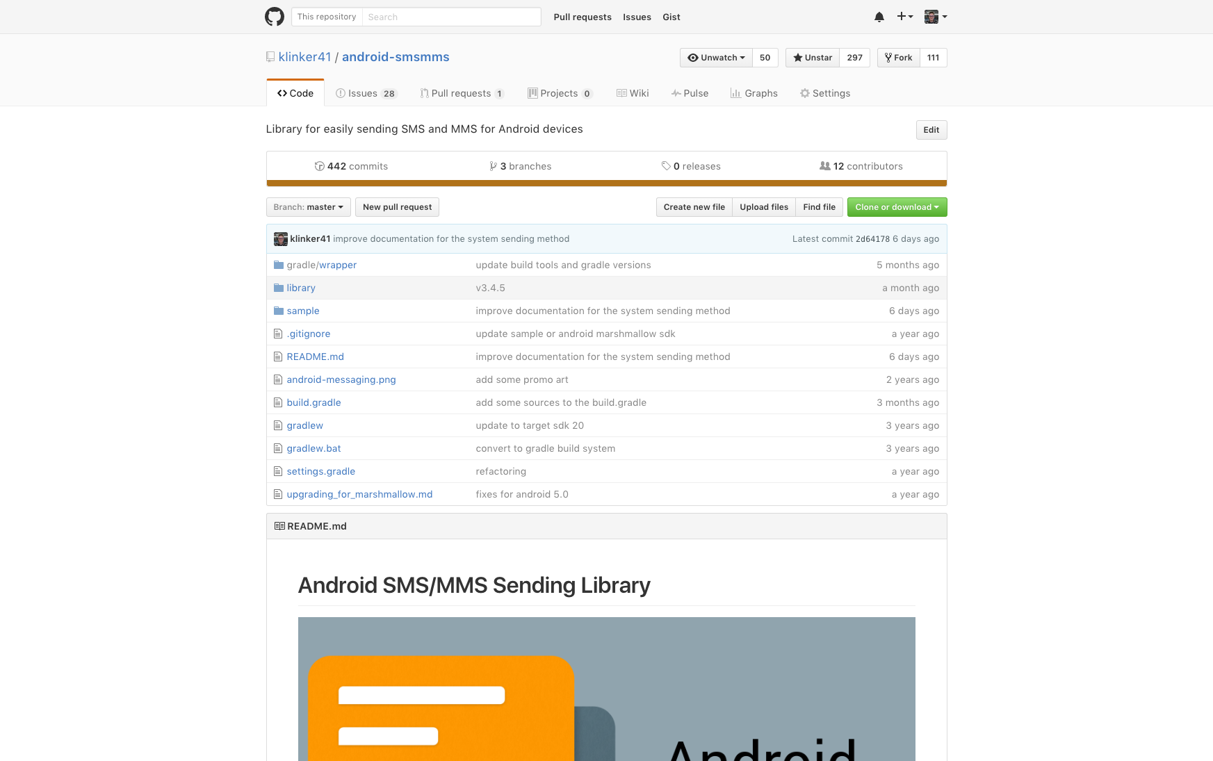 github android-smsmms