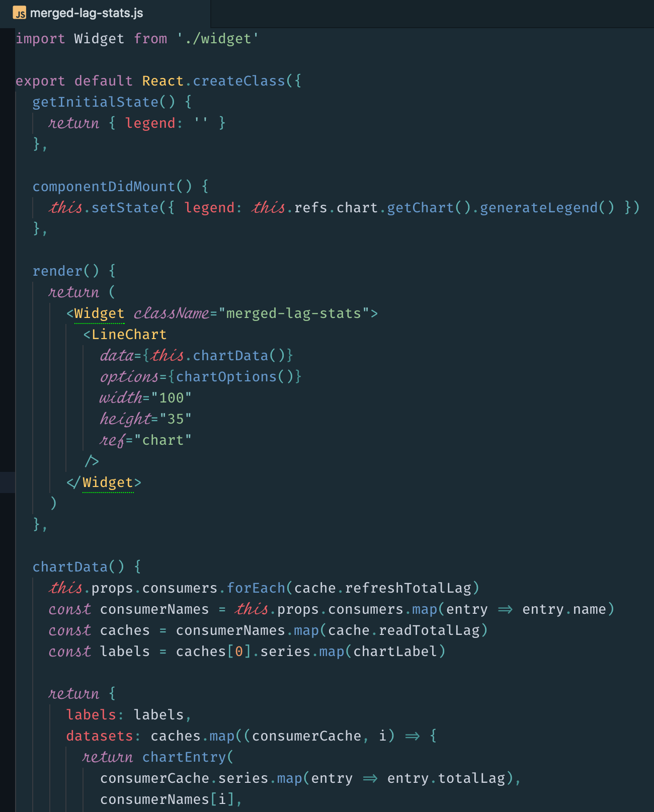 Screenshot of JSX