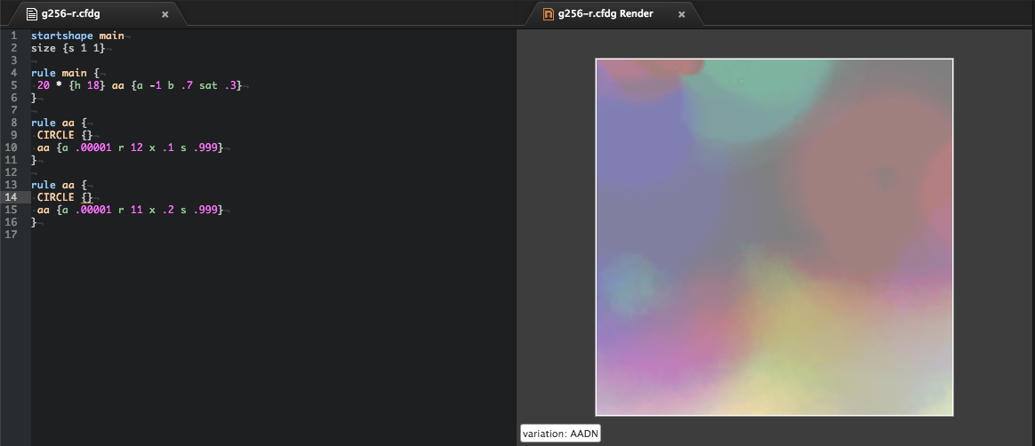 Language Context Free - Rendering Screenshot