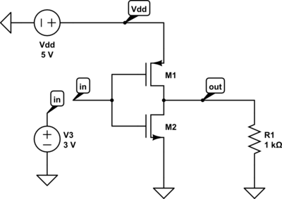 CMOS Inverter Circuit Diagram