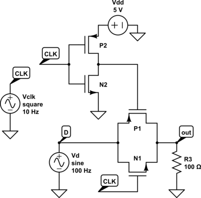 Pass Gate Circuit Diagram