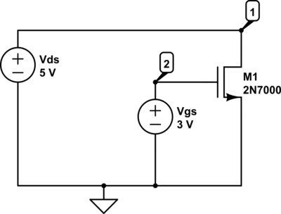 V2NMOS1 Circuit Diagram