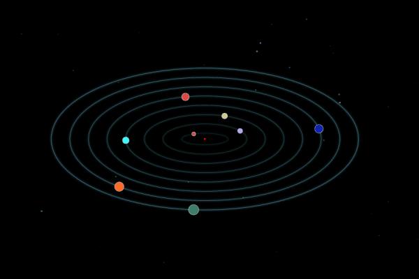 canvas-行星