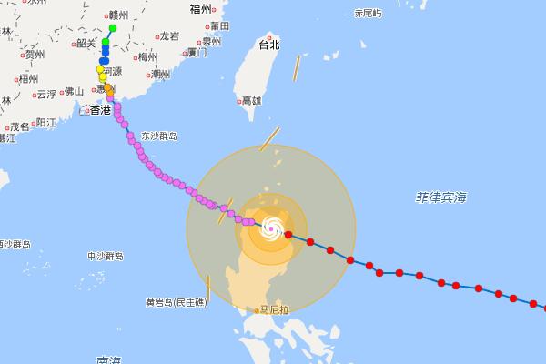 百度地图-台风