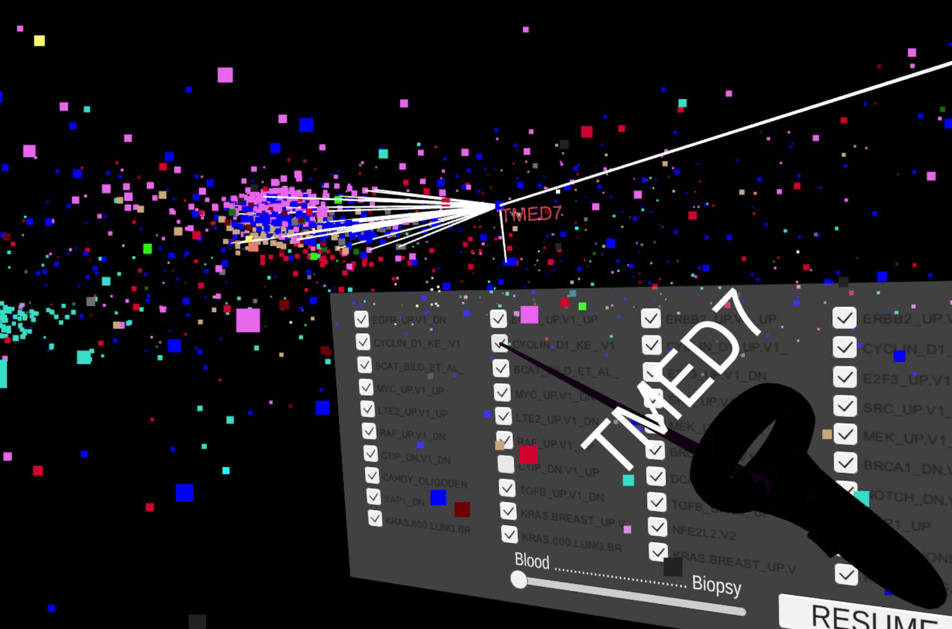 Screenshot from GeneNet VR