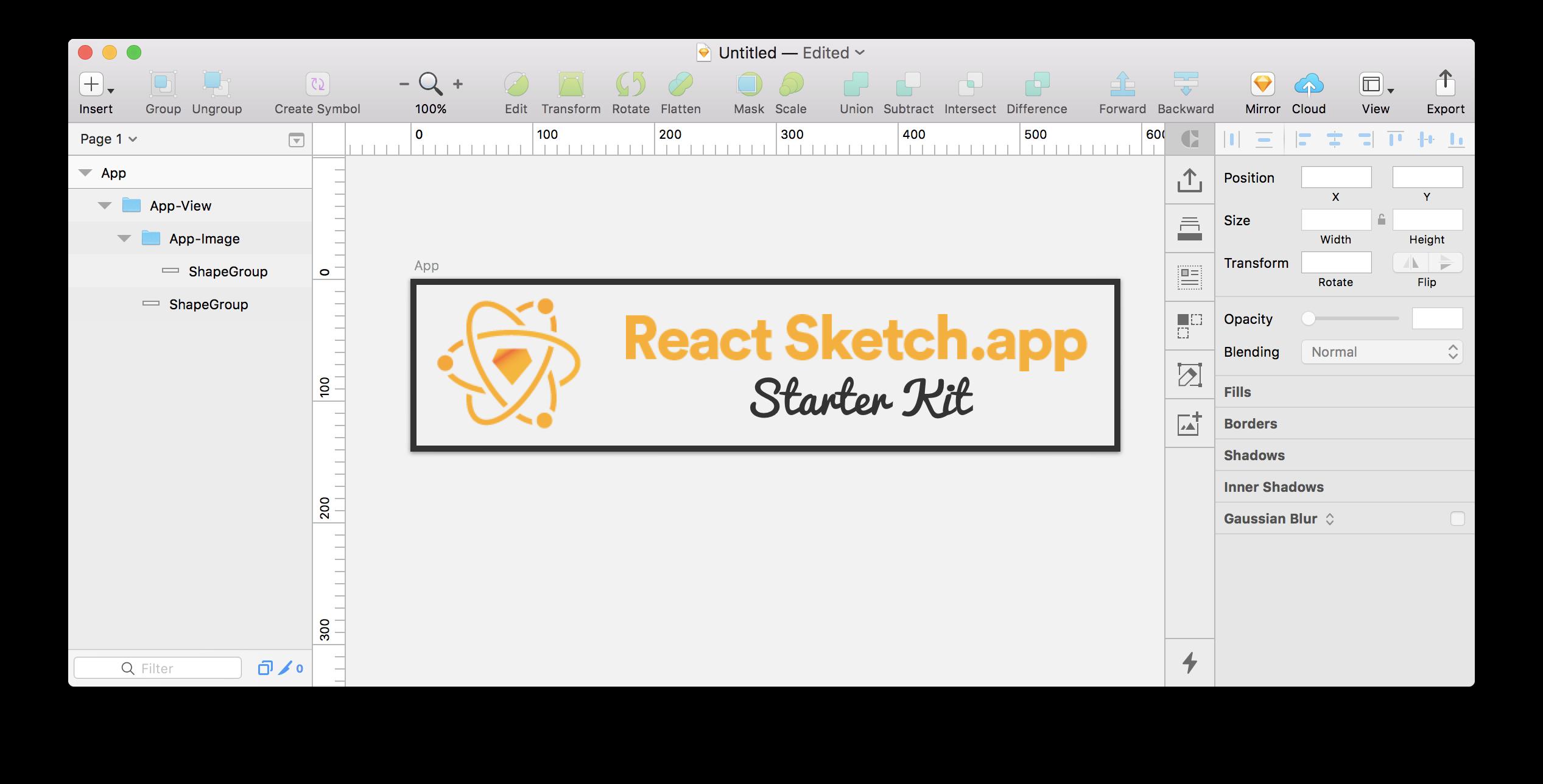 react-sketchapp-starter-kit result