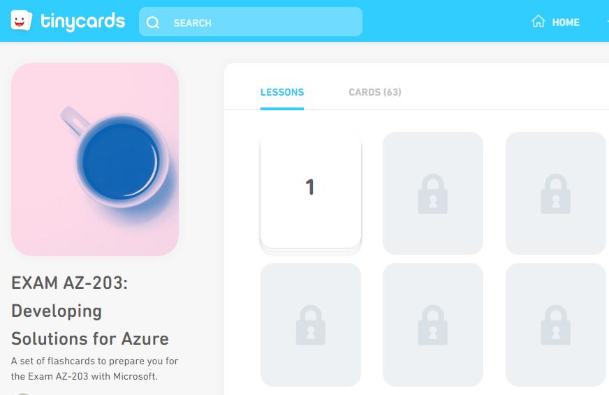 TinyCards Flash Cards