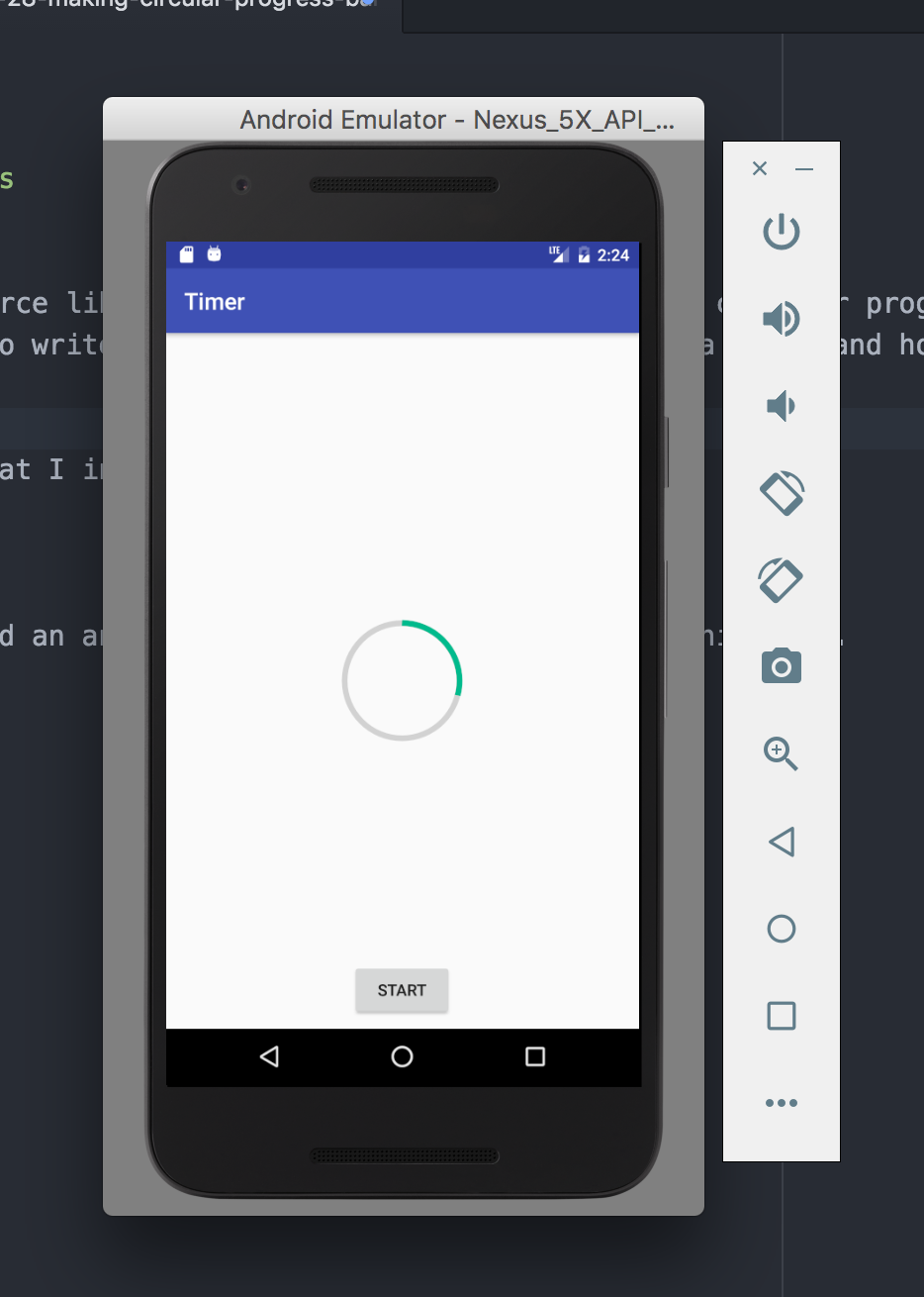 Android - Linear Circular Progress Bar