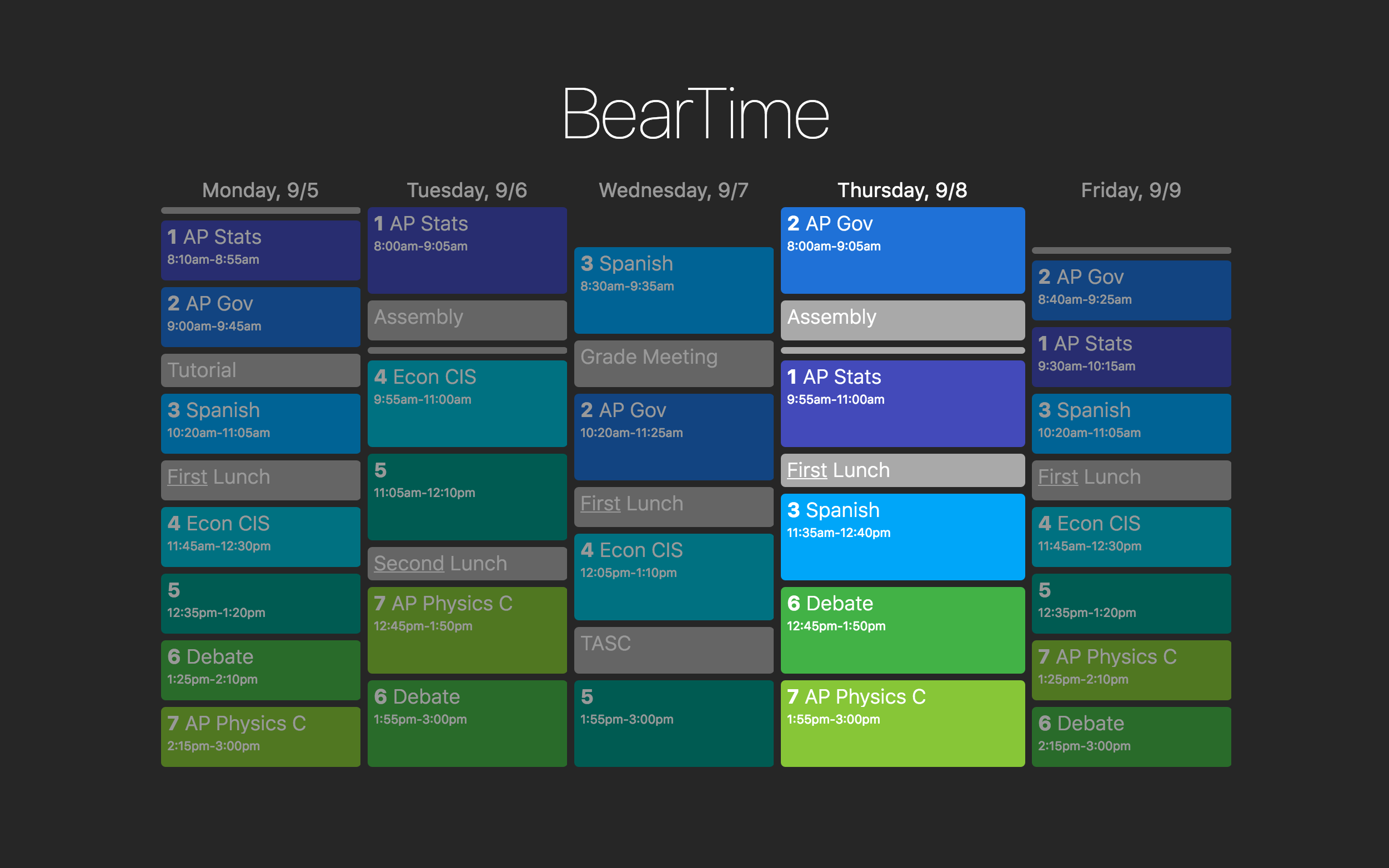BearTime Screenshot