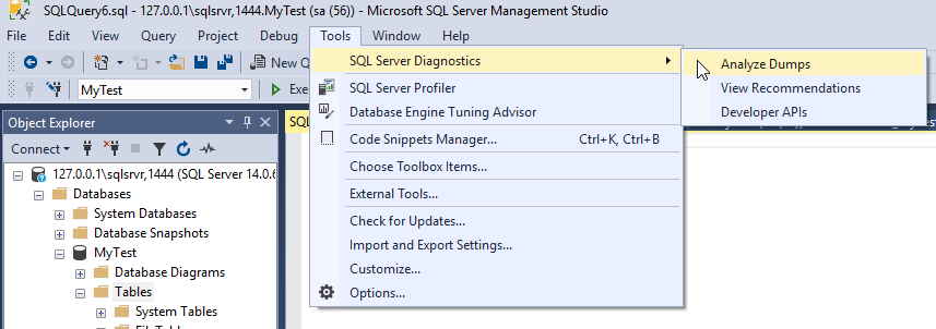 SQL Server Diagnostics Extension