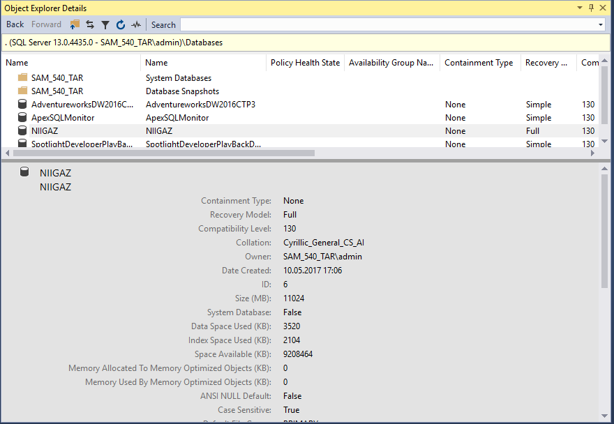 SSMS_Database_Default_Reports