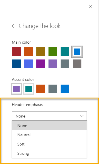 Theme Selection for the SharePoint Web