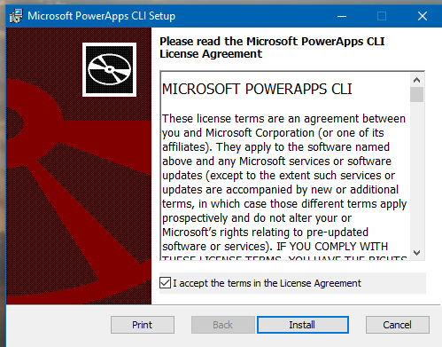 Install Power Apps CLI