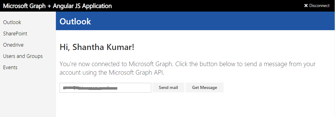 MS Graph API Demo Samples
