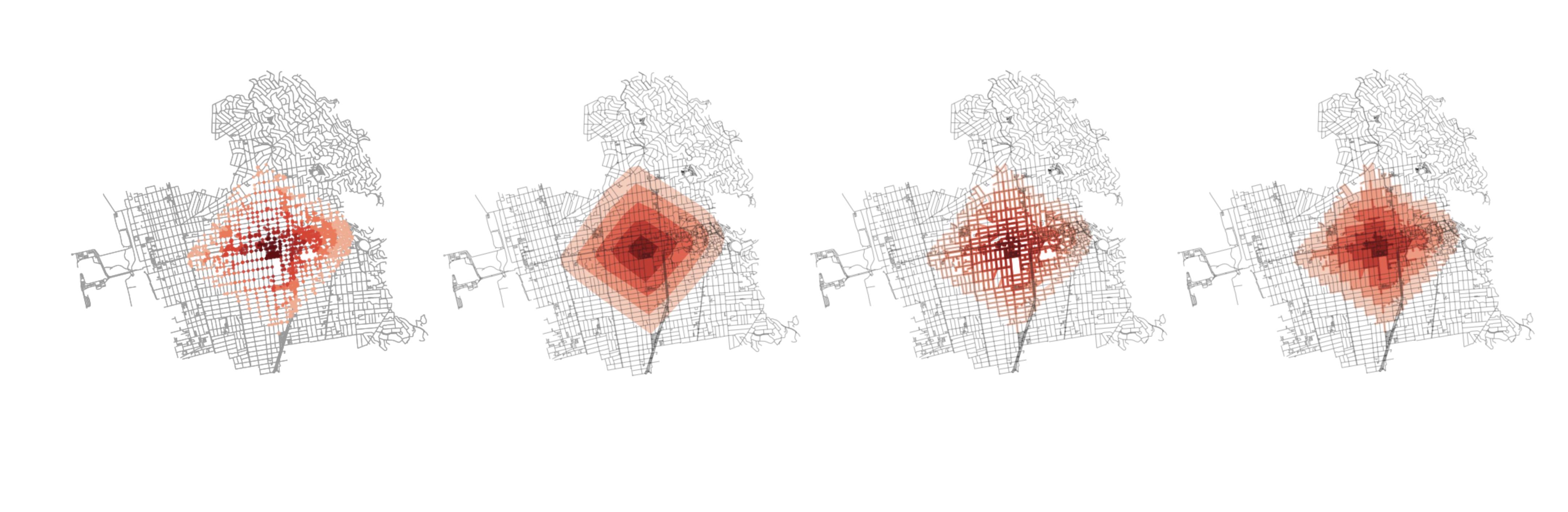 Better Rendering of Isochrones from Network Graphs – kuan butts
