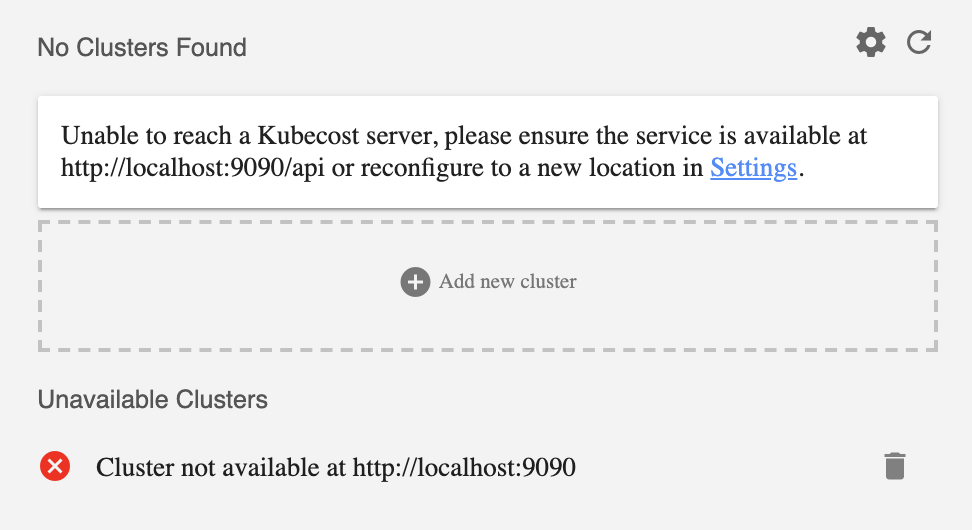 No clusters found