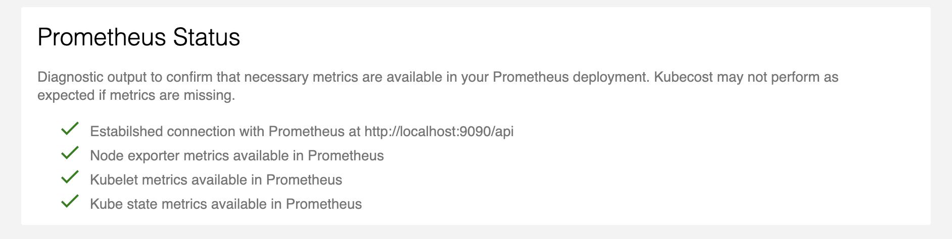 Prometheus status diagnostic